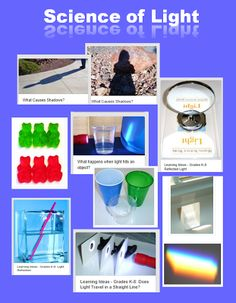 Perfect ideas for Exploring Creation with Chemistry and Physics: Learning Ideas - Grades The Science of Light - 7 Fun Activities Science Week, First Grade Science, Primary Science, Preschool Science, Elementary Science, Science Experiments Kids, Middle School Science, Physical Science, Science Classroom