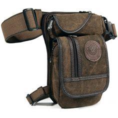 New Men's Canvas Drop Leg Bag Waist Fanny Pack Belt Hip Bum Military Tactical Motorcycle Multi-purpose Messenger Shoulder Bags