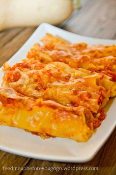 Cannelloni gefüllt mit Ricotta und Kürbis Rezept Feed me up before you go-go