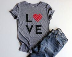 Valentine Shirts Love Shirt Junior Fitted Heart Shirts for Women Valentines Day Gift for Her Valentines Day Shirt Love Shirts Cute Shirts - Holiday Shirts - Ideas of Holiday Shirts - Love Valentine Tshirts for Women Valentine by BuyMoreFavLess Womens Valentine Shirts, Valentines Outfits, Valentines Day Gifts For Her, Valentines Day Shirts, Love Valentines, Valentine Heart, Valentine Outfits For Women, Valentine Ideas, Heart Shirt