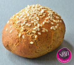 Éhezésmentes Karcsúság Szafival: Főzzünk együtt 4. rész: Light Paleo Zsemle recept videoval Paleo Bread, Bread Baking, Paleo Menu, Hamburger, Bakery, Fitt, Blog, Baking, Hamburgers