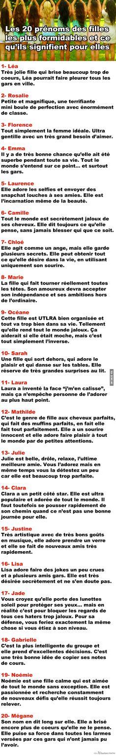 Les 20 prénoms des filles les plus formidables et ce qu'ils signifient pour elles – Québec Meme +