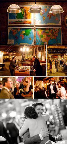 salvage one wedding reception photos