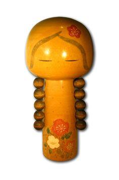 Poupées kokeshi de la région d'Amagi. Signée TÔA Hauteur 23cm Objet ancien