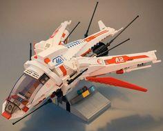 Lego White Dragon Spaceship