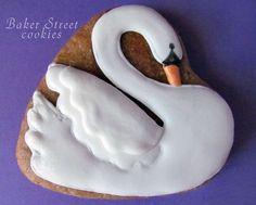 cookie swan royal icing печенье овсяное лебедь айсинг