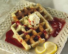 Living Without - Gluten-Free Lemon Poppy Waffles - Recipes Article