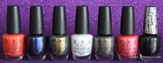 OPI The Amazing Spider-Man Collection    Call Me Gwen-ever - Into The Night - Just Spotted The Lizard - My Boyfriend Scales Walls - Number One Nemesis - Your Web Or Mine?