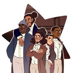 Is it just me or does it look like Lafayette is wearing winged eyeliner