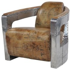 Aviator Club Chair Spitfire Arms - contemporary - chairs - san francisco - Zin Home