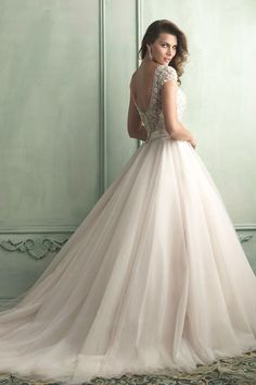 2014 Wedding Dress A Line Bateau Neckline Beaded Bodice With Tulle Skirt