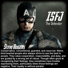 Behind the Mask: The Avengers Personality Chart - Steve Rogers [ISFJ].I'm an ESFJ, but I'm borderline ISFJ, so I identify with most of these characteristics too! Infp, Thats The Way, That Way, Personality Chart, Personality Psychology, Introverted Sensing, Myers Briggs Personalities, 16 Personalities, Literatura