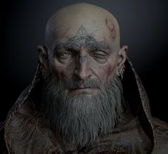 I wear my faith upon my flesh even as the gods squirm within me-Titus Wren 3d Fantasy, Medieval Fantasy, Dark Fantasy, Character Portraits, Character Art, Character Design, Fantasy Portraits, Dnd Characters, Fantasy Characters