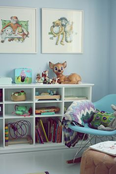 vintage inspired, bambi, children's room; via ralfefarfars paradis