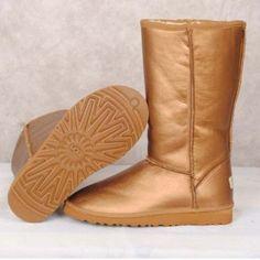 cheap ugg boots, cheap UGG Nightfall 5359, Women UGG Metallic Classic Tall 5812 Gold
