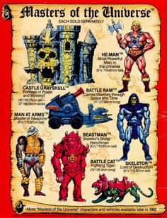 The back cover of the first wave of mini books from Masters of the Universe. These books were amazing with Alfredo Alcala artwork and telling the original tale of how He-Man helped defend Castle Grayskull from Skeletor.