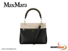 La bolsa Venecia en napa de la marca MaxMara cuenta con un elegante diseño bicolor adornado con detalle joya en una sola asa rígida además de correa de hombro ajustable y desmontable. ¡Obtén un reembolso de impuestos para turistas extranjeros por tus compras en MaxMara en México! #taxfree