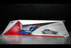 "Exhibition stand ""AUDI""Design by ""GM stand design ""designer Nazar Malets Tv Set Design, Trade Show Booth Design, Display Design, Event Design, Exhibition Stall, Exhibition Booth Design, Exhibit Design, Office Building Architecture, Facade Architecture"