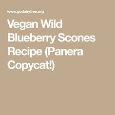 Vegan Wild Blueberry Scones Recipe (Panera Copycat!)