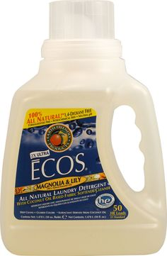 Earth Friendly Ultra Ecos Laundry Detergent Magnolia and Lily -- 50 fl oz.  I get this at Costco, but you can get it many places, even Walmart.  Works great & very economical.