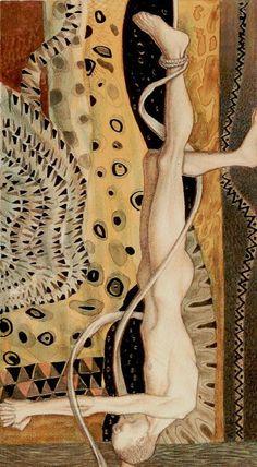 The Hanged Man - Golden Tarot of Klimt