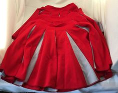 """Bristol Products Cheerleading Skirts Set of 3 Red and Gray Size Small 20"""" Waist  