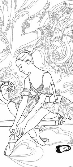 Digital Coloring Page Ballerina Printable Dance Ballet Art, 3 Pages Adult Colouring Book Hand Drawn For Download Gift for Dancer Gifts Print   3 Coloring pages hand drawn -8.3 x 11.7 part of Printable Adult Colouring Book The magic of dance , -  Original drawings by Valentina Ra.  This download contains 3 jpg file compatible to print at US Letter (8.5 x 11 Inches)or A4 standard print size .  ★ HAND DRAWN DESIGNS - All of our designs are painstakingly drawn by hand. Nothing is computer…