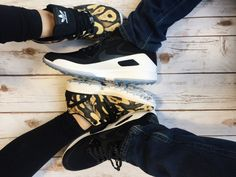 We're feeling those couples shoe goals - Pick you and #bae up some new kicks at #PlatosClosetBarrhaven and take your shoe game up a knotch! //Men's #Nike, 13, $80//Women's #Adidas, 8, $50// | www.platosclosetbarrhaven.com
