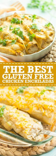 The Best Gluten Free Chicken Enchiladas | These enchiladas are hearty, super flavorful, and are topped with an easy, gluten free sauce. #glutenfree #chicken #enchiladas #healthy | mykitchen.life