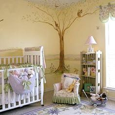 Nursery!! I love the tree how the leaves go up to the ceiling and looks like a open meadow around it... Similar to what I want to do.