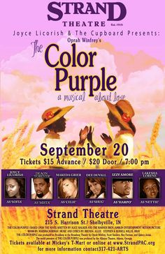www.colorpurple.org to purchase tickets