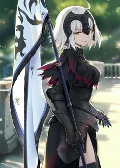 An apple a day keep the Alter away & Manga Anime Art Girl, Manga Girl, Manga Anime, Anime Girls, Fate Zero, Jeane D Arc, Fate Jeanne Alter, Character Art, Character Design