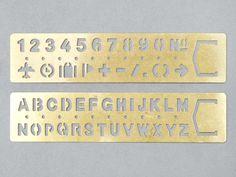 Midori Brass Stencil Bookmark / Present