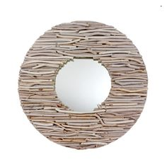 Intimate fusion: interwoven, mixed, superimposed and combined shapes and materials— this mirror is no longer a mere accessory, exemplify the art of living together. Mirror Hublot is made of driftwood. Driftwood Furniture, Driftwood Mirror, Driftwood Crafts, Driftwood Ideas, Crafts To Do, Arts And Crafts, Diy Crafts, Bleu Nature, Porthole Mirror