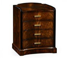 Biedermeier style mahogany bedside chest
