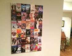 """Before you throw out all your VHS tapes, cut off the covers and create a """"favorite movies"""" collage!"""
