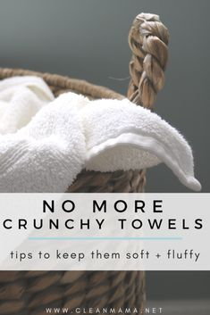 No More Crunchy Towels - How to Restore Your Towels to Their Fluffy Goodness tips tips and tricks tips for big families tips for hard water tips for towels