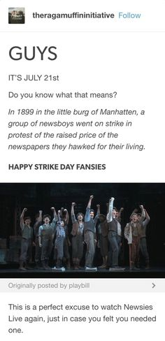 There are no excuses to watch Newsies Live EVER<<<?what the duck are you on about?not like the musical for some absurd reason? then why the duck are you here? Theatre Nerds, Music Theater, Broadway Theatre, Broadway Shows, Musicals Broadway, Newsies Live, The Rocky Horror Picture Show, Dear Evan Hansen, My Escape