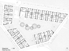 """Stanislao Fierro, Nadine Saul · Edifici residenziali nel nuovo quartiere CasaNova nella zona Bivio-Kaiserau di Bolzano: isolato """"EA2"""" · Divisare"""