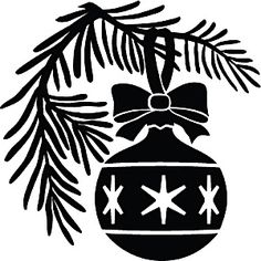 c-xmas-0003 - Ornament on branch