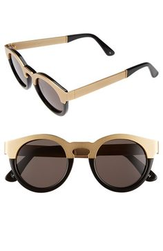 SUNDAY SOMEWHERE 'Soelae' Round Sunglasses available at #Nordstrom