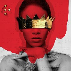 """rihanna is back on top yet again. she already told you that rihanna reign don't let up. """"anti"""" is for the second time this week. Cool Album Covers, Music Album Covers, Cd Cover, Cover Art, Famous Album Covers, Rihanna Album Cover, Rihanna Albums, Rihanna Work, Rihanna Fan"""