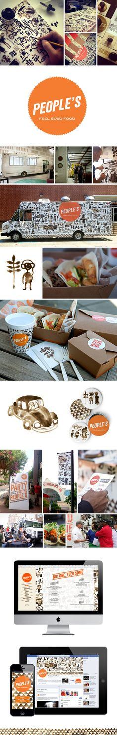 People's Food Truck by Samira Rahimi, via Behance