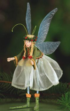 Patience Brewster Krinkles Green Fairy of Hope Christmas Ornament Holiday New | eBay