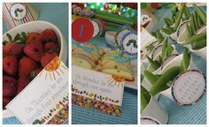 Food labels - link to free printable for these cute very hungry caterpillar labels, great for school age | http://diy-gift-ideas.blogspot.com