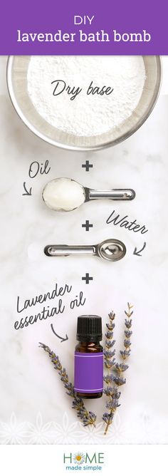Surround yourself in soothing lavender with our relaxing DIY bath bomb. Discover how you can customize homemade bath bombs with other nature-inspired scents like lemon and rose too. Homemade Bath Bombs, Rose Bath, Bath Bomb Recipes, Bath Girls, Crafts For Kids To Make, Home Made Soap, Soap Making, Bath And Body, Lavender