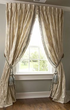 elegant French pleated curtains