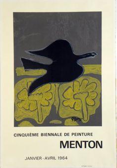 Plakat Georges Braque Affiche Georges Braque Plakat Georges Braque title Menton technology Original color lithograph