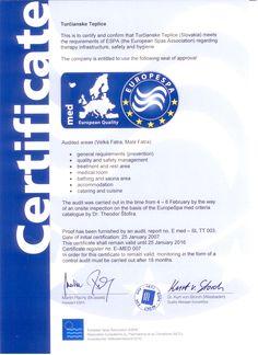 Certifikat Europespa EN