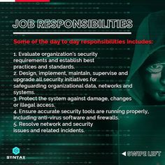 Almost every company in the world today requires CyberSecurity experts to build & protect systems to mitigate catastrophic cyber threats.😈 However, not many people are aware of the roadmap to follow to establish a career in CyberSecurity. Let us find out in this post. #cybersecurity #ethicalhacker #ethicalhackers #ethicalhacking #ethicalhackerintraining #cybersecuritytraining #cybersecuritycourse #cybersecuritytips #cybersecurityawareness #cybersecuritynews #syntaxtechnologies #syntaxtechs Cyber Security Course, Cyber Security Awareness, Security Training, Security Tools, Cyber Security Certifications, Network And Security, Cyber Threat, Marketing Jobs, Training Courses